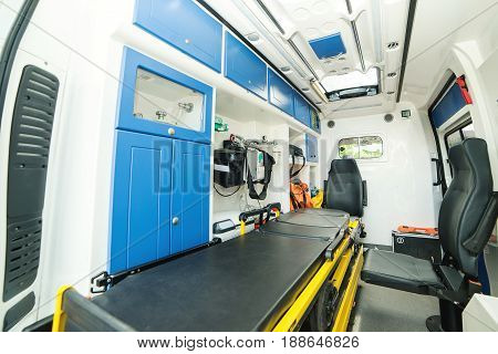 a brand new ambulance for the hospital