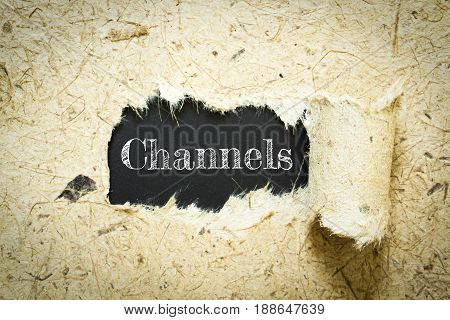 Text Channels on paper black has Mulberry paper background you can apply to your product.