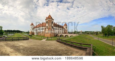 Mir BELARUS - May 20 2017: Mir Castle in Minsk region - historical heritage of Belarus. UNESCO World Heritage