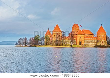 Trakai Island Castle Museum At Galve Lake
