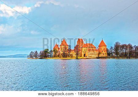 Trakai Island Castle Museum And Galve Lake