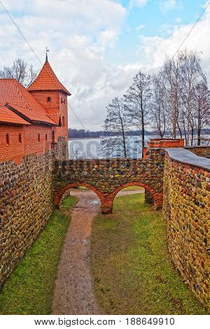Tower Of Trakai Island Castle Museum At Day Time