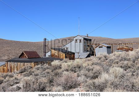 Bodie a Ghost Town, Street in Bodie State Historic Park, California, USA
