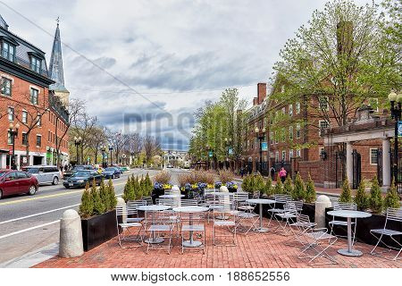 Street Cafe In Cambridge Ma