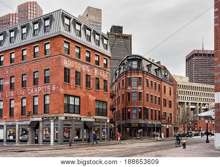 Haymarket In Boston Massachusetts