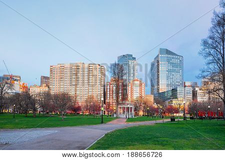 Boston Common Public Park In Boston Ma
