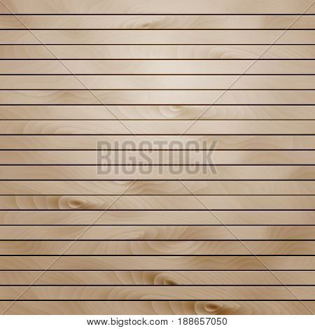 Cartoon square vector background with wooden boards. Backdrop of wood planks