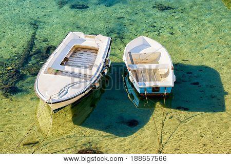 Motorboat In Adriatic Sea In Dubrovnik