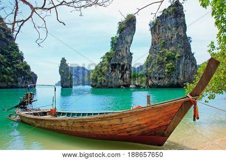 Koh Kudu Yai located in the north of Koh Yao Noi Island Phang Nga Bay Thailand