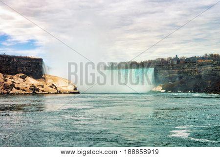 Beautiful Niagara Falls From The American Side