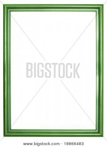 One metalic frame isolated on white background