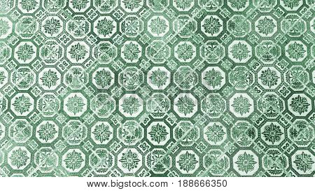 the green ceramic tile pattern from chines style