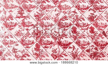 ceramic tile pattern from chines nature and wild animal style