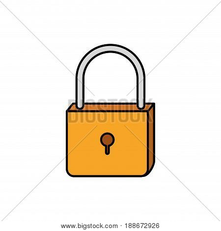 colorful silhouette of padlock icon vector illustration
