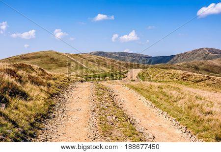 Path Through The Carpathian Mountain Ridge