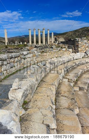 Bouleuterion  Ajacent From Aphrodite Temple Ruins  In Aphrodisias Turkey