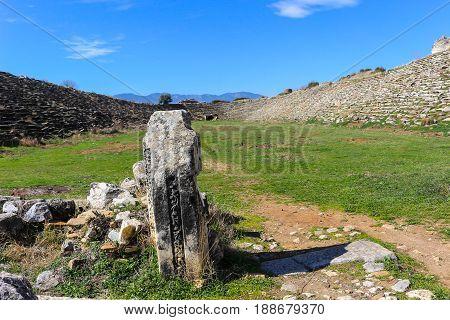 Aphrodisias Stadium Ruins  In Aphrodisias Turkey
