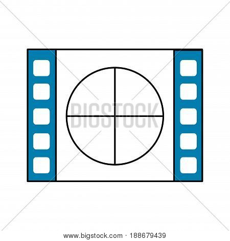 film countdown to projection of movie, vector illustration