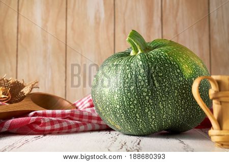 Summer Squash On Wooden Background