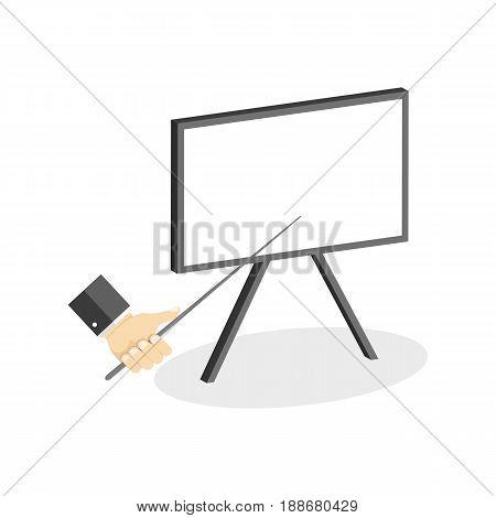 Whiteboard Symbol. Flat Isometric Icon Or Logo. 3D Style Pictogram For Web Design, Ui, Mobile App, I