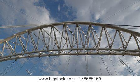 Low Angle View Of a  Modern Bridge