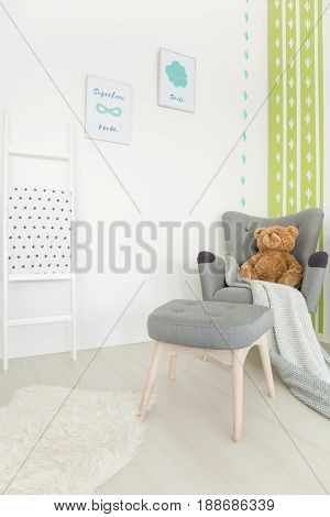 Muted Colors In Baby Room