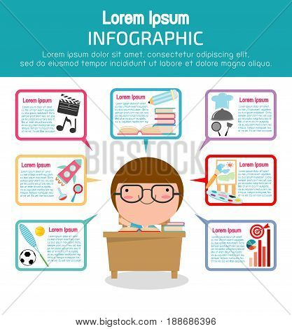 Education infographic template design, Education concept vector Illustration,