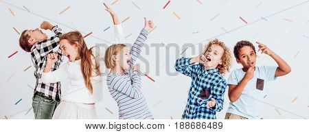 Kids Having Fun At The Party