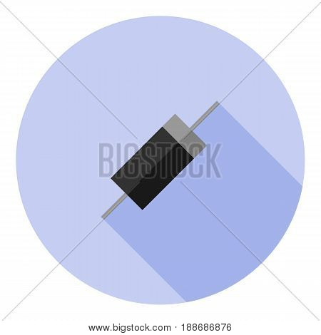 Vector image of a diode on a round background