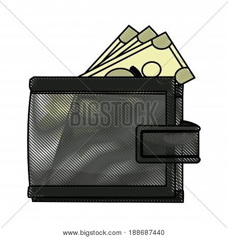wallet money safe finance business icon vector illustration