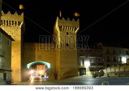 Puerta Baja In Medieval Town Of Daroca, Zaragoza Province, Aragon,spain