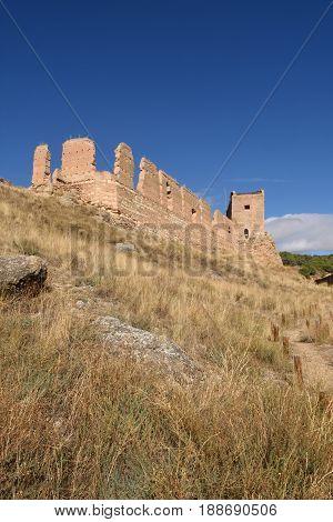 Main Castle of Daroca; Zaragoza province Aragon; Spain