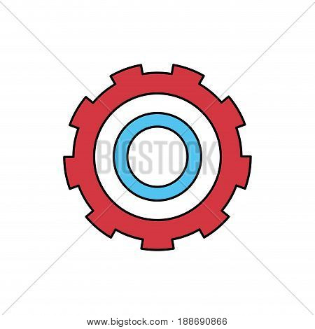 color sectors silhouette of gear of wheel vector illustration