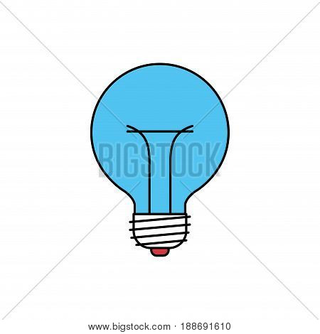 color sectors silhouette of bulb light icon vector illustration