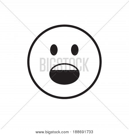 Cartoon Face Screaming People Emotion Icon Vector Illustration