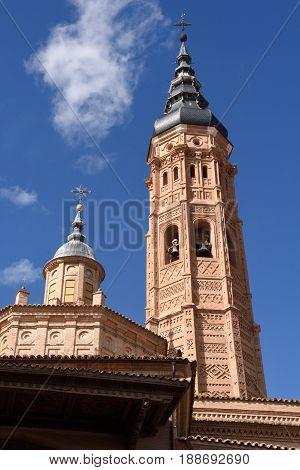 Collegiate church of Santa Maria la Mayor Calatayud. Zaragoza province Aragon