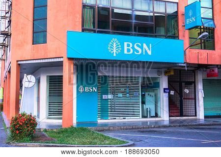 Beaufort,Malaysia-May 28,2017:Bank Simpanan Nasional in Beaufort,Sabah,Malaysia on 28th May 2017.Bank Simpanan Nasional/National Savings Bank,BSN is a government owned bank based in Malaysia.