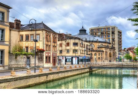 Canal du Trevois in Troyes town - France, Aube