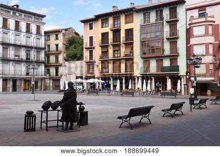 Main square of Calatayud. Zaragoza province Aragon