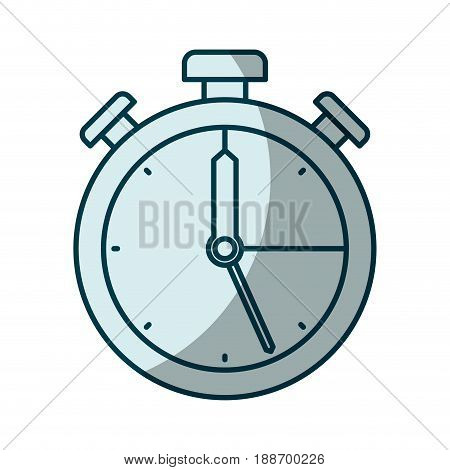 blue shading silhouette of stopwatch icon vector illustration
