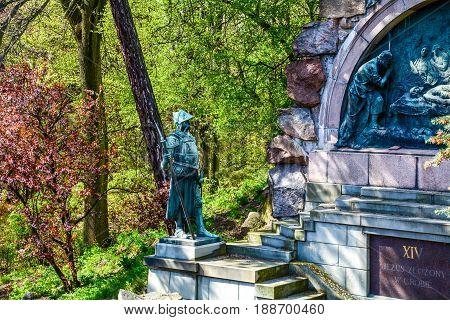 Monuments to the soldiers of religion Poland Częstochowa