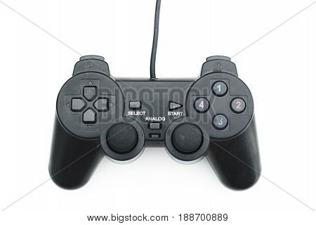 Joystick isolated white background and game joystick isolate