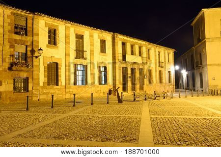 Main square Medinaceli Soria province Catilla-Leon Spain