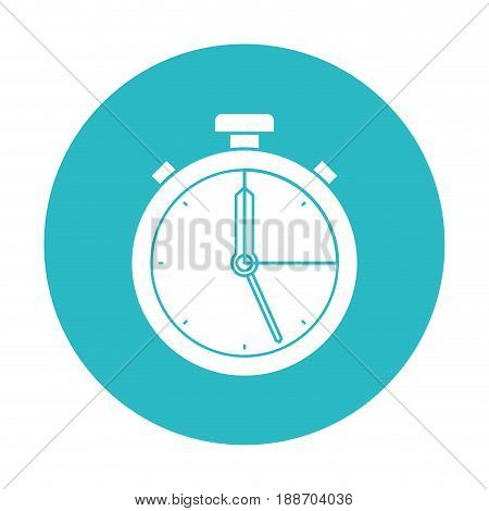 circle light blue with stopwatch icon vector illustration