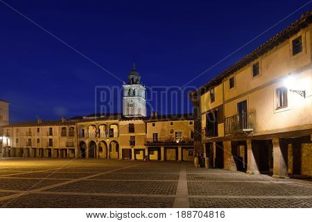 Main square of Medinaceli Soria province Castilla-Leon Spain