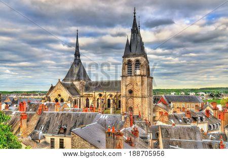Medieval Saint Nicholas church in Blois - France, Loir-et-Cher