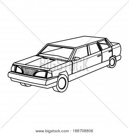 luxury vehicle stretch car limousine view vector illustration