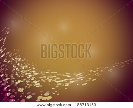 Abstract Sparkling Stars Holiday Background bokeh effect. Vector Illustration.