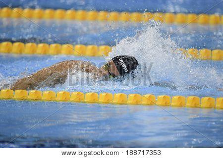 Rio de Janeiro Brazil - august 13 2016: PALTRINIERI Gregorio (ITA) during men's 1500 metre swimming freestyle of the Rio 2016 Olympics Games Rio 2016