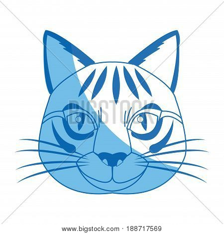 head feline wildlife stripes animal icon vector illustration